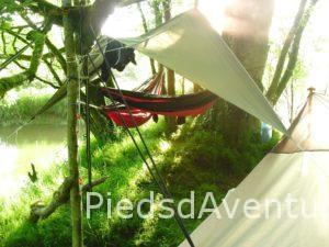 randonnée canoe bivouac vendée