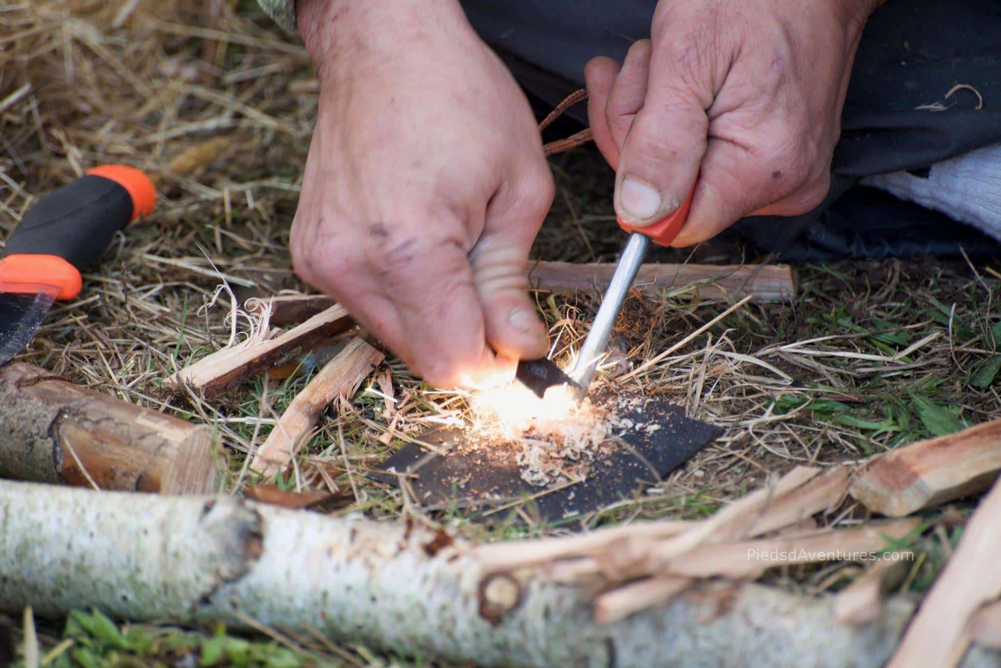 Bushcraft allumer un feu