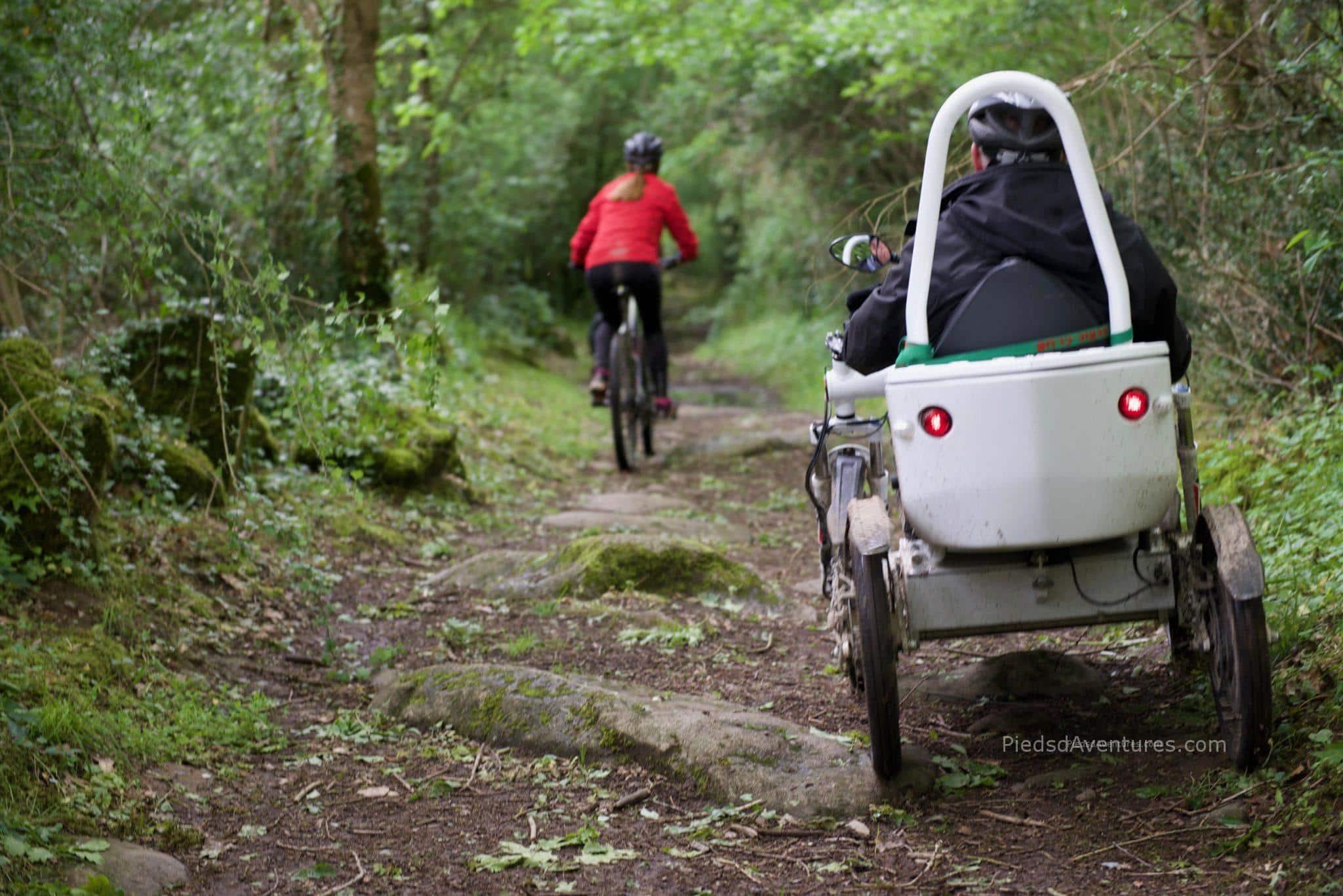 Randonnée handicap avec mobile dream